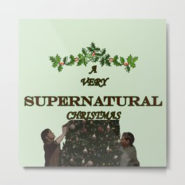 A Very Supernatural Christmas Metal Print