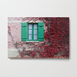 French Window in Autumn Metal Print