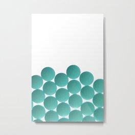Isolated Deep Sea Blue Pills Texture Metal Print