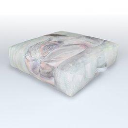 "Watercolor Painting of Picture ""Hippopotamus"" Outdoor Floor Cushion"