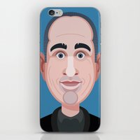 seinfeld iPhone & iPod Skins featuring Comics of Comedy: Jerry Seinfeld by XK9 Works