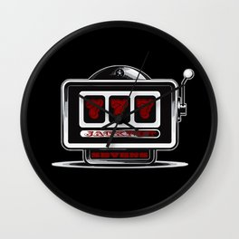 Jackpot Sevens Slots concept logo graphic Wall Clock