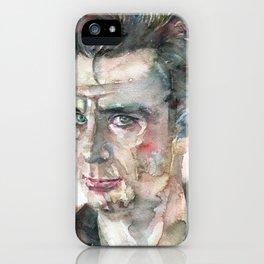 JACK KEROUAC - watercolor portrait.7 iPhone Case