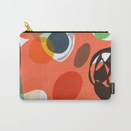 Abstract Shapes Pattern Be Kind Carry-All Pouch