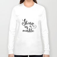 marble Long Sleeve T-shirts featuring Marble by melonweed