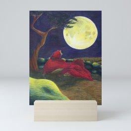 Little Red Wolf Mini Art Print