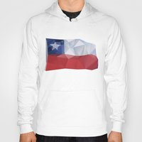 chile Hoodies featuring CHILE FLAG  by Favio Torres