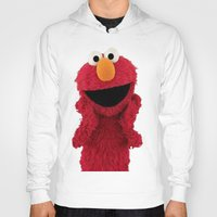 elmo Hoodies featuring ELMO DUVET COVER by aztosaha
