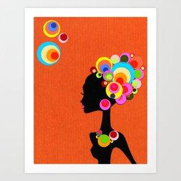 Big, Bright, Bold HAIR! Art Print