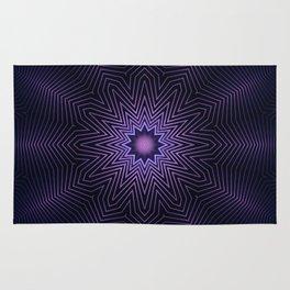 Deep Purple Mandala Rug