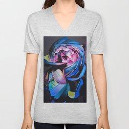 Rose chalk drawing Unisex V-Neck