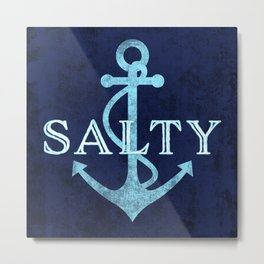 Salty Sailor Anchor Metal Print
