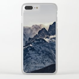 Rocky Mountain Winter Clear iPhone Case