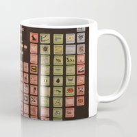 periodic table Mugs featuring Periodic Table of Phobias by Darkest Devotion