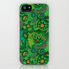 Surreal pattern (color) iPhone Case