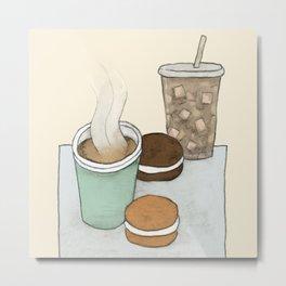 Hot Tea, Iced Coffee, and Whoopie Pies Metal Print