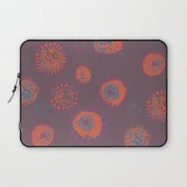 Hand Printed Circular Floral Laptop Sleeve