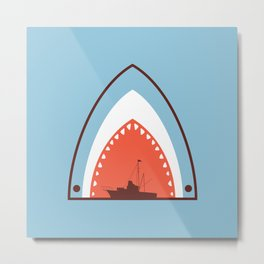 Great White Attack Metal Print