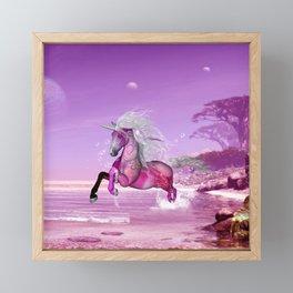 Wonderful unicorn Framed Mini Art Print