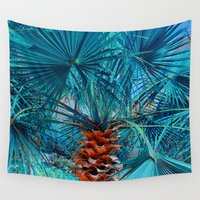 palm tree Wall Tapestries featuring Palm Tree by DistinctyDesign