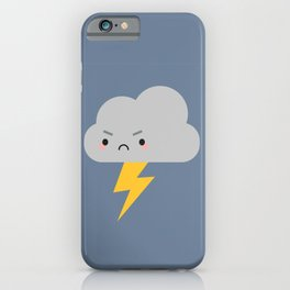 Kawaii Thunder & Lightning Cloud iPhone Case