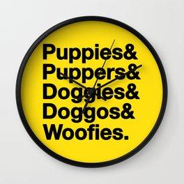 & Puppies Wall Clock