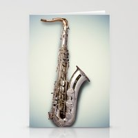 saxophone Stationery Cards featuring Tenor Saxophone by Ruud Roelofsen