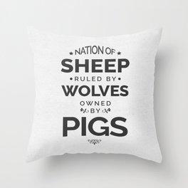 Nation Of Sheep Throw Pillow