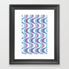 Purple Waves Framed Art Print