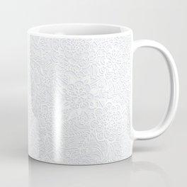 Embossed Powder & Pearl Lace Coffee Mug