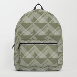 Modern Simple Geometric 5 in Sage Green Backpack