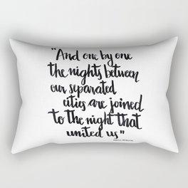 Neruda's nights Rectangular Pillow