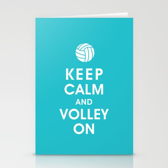 Keep Calm and Volley On (For the Love of Volley Ball) Stationery Cards