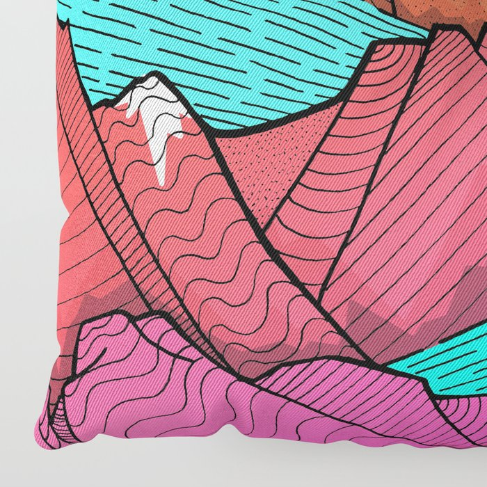 The islands and the sea Floor Pillow