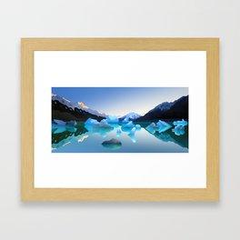 Glacial Lake Framed Art Print