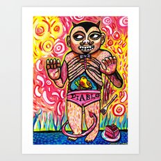 The Devil Caught With His Cake Art Print