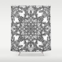 snowflake Shower Curtains featuring Snowflake   by ArtLovePassion