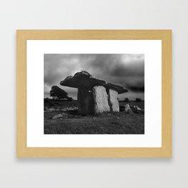 Poulnabrone Dolmen Framed Art Print
