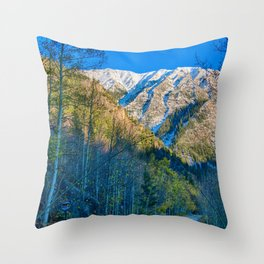 Mountain Path // Rocky Mountains Colorado Landscape Photography Amazing Shots at Sunrise Throw Pillow