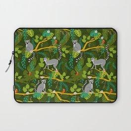 Lemurs in a Green Jungle Laptop Sleeve
