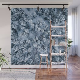 Winter Pine Forest Wall Mural