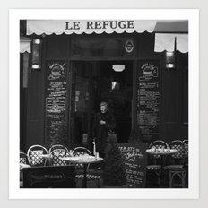 LE REFUGE Art Print