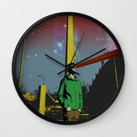mike wrobel Wall Clocks featuring Mike by jnk2007