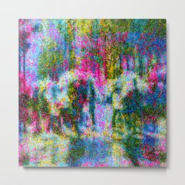 My Freaky and Pixelated Rainy Day Metal Print