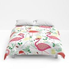 FLAMINGO CHRISTMAS Comforters