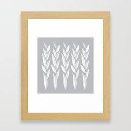 Eternity in Silver Leaf Framed Art Print