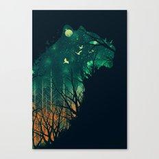 Space Tiger Canvas Print
