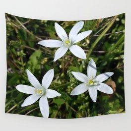 White Flowers Wall Tapestry
