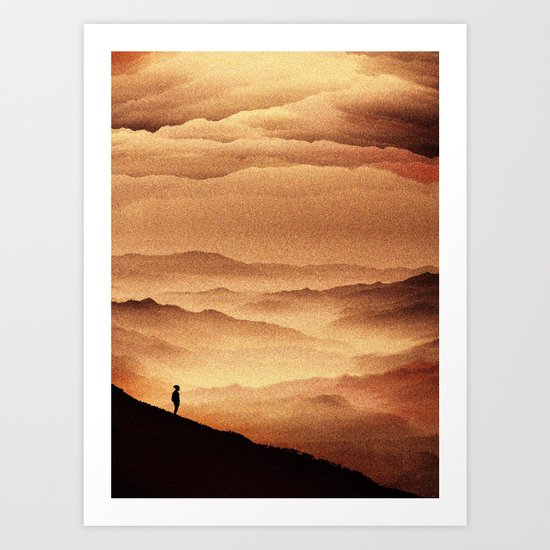 Red Noise Isolation Series Art Print