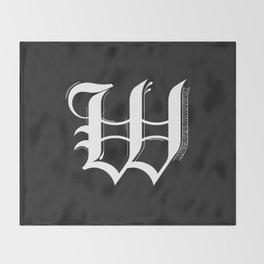 Letter W Throw Blanket